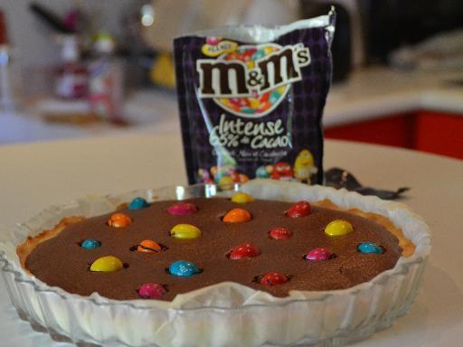 """ Tarte Chocolat Noir et M&M'S """