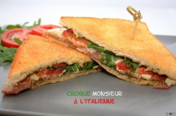 """"""" Croque Monsieur Italien ( Recette Spécial Italie) """""""