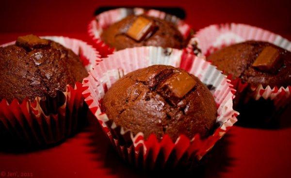 """ Muffins au Chocolat Caramel """