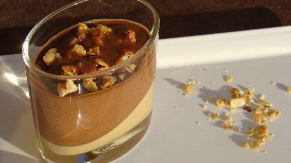 """"""" Verrines Mousse au Chocolat & Caramel """""""