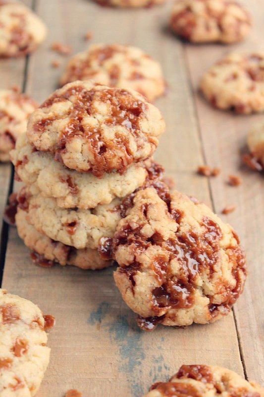 """"""" Cookies aux Éclats de Caramel au Beurre Salé """""""