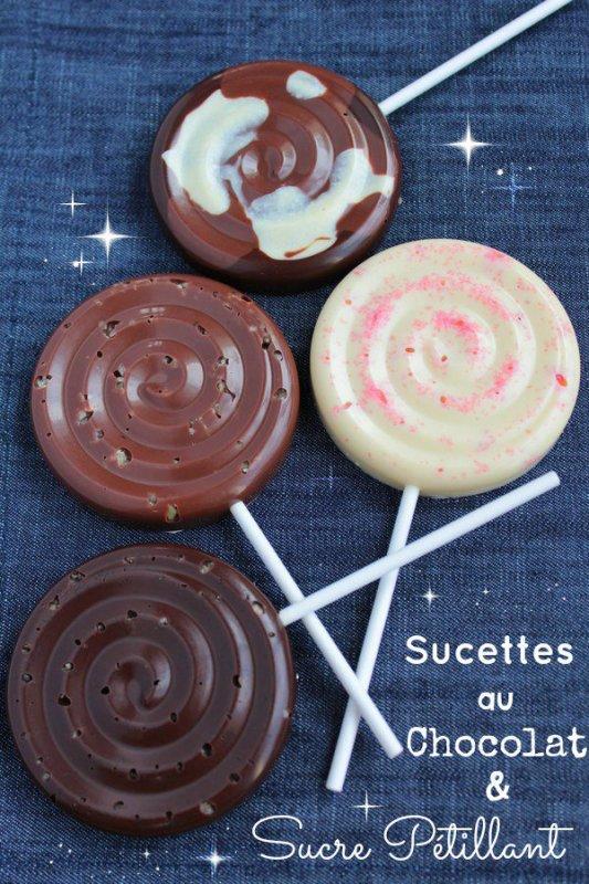 """"""" Sucettes au Chocolat & Sucre Pétillant """""""