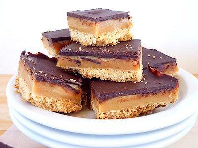 """"""" Millionnaire's Shortbread ( Sablés au Caramel & Chocolat )-( Recette Spécial Ecosse  ) """""""