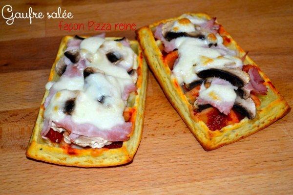 """"""" Gauffre Façon Pizza Reine """""""