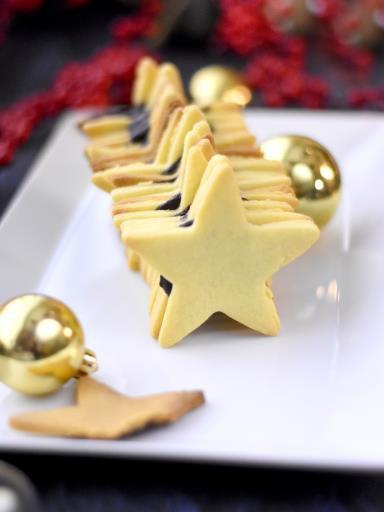 """"""" Bûche de sablés au chocolat ( Recette Spéciale Noel ) """""""