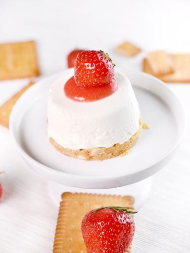 """ Cheesecake c½ur coulant aux fraises """
