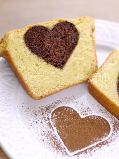 """ Cake moelleux au mascarpone et insert au chocolat """