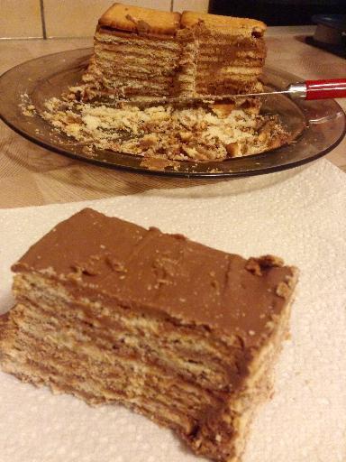 """ Gâteau Biscuit au Praliné """