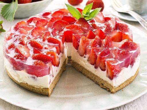 """ Gâteau fraises - chocolat blanc """