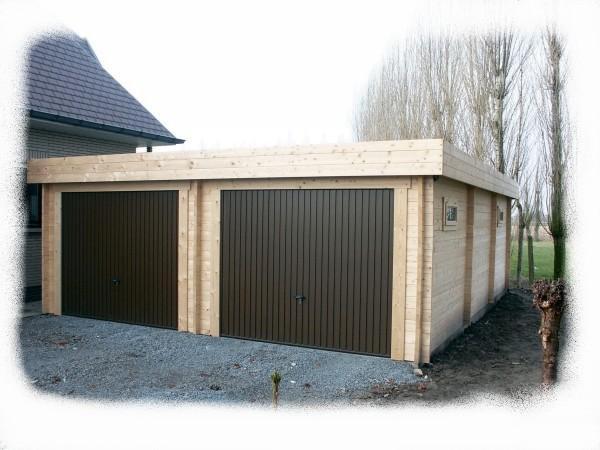double garage toit plat blog de kitbois. Black Bedroom Furniture Sets. Home Design Ideas