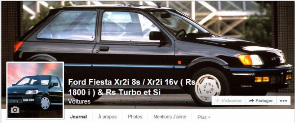 Page facebook de fiesta xr2i & Rs turbo