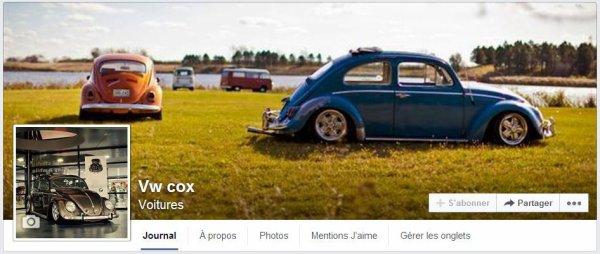 Page facebook de vw cox