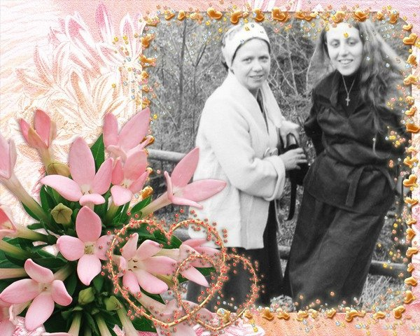 ma mère et moi en 1976