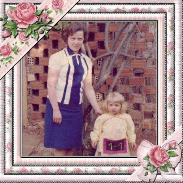 nostalgie: avec ma mère quand j'avais deux ans