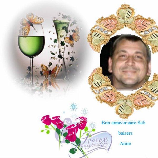Bon anniversaire Sébastien, mille baisers