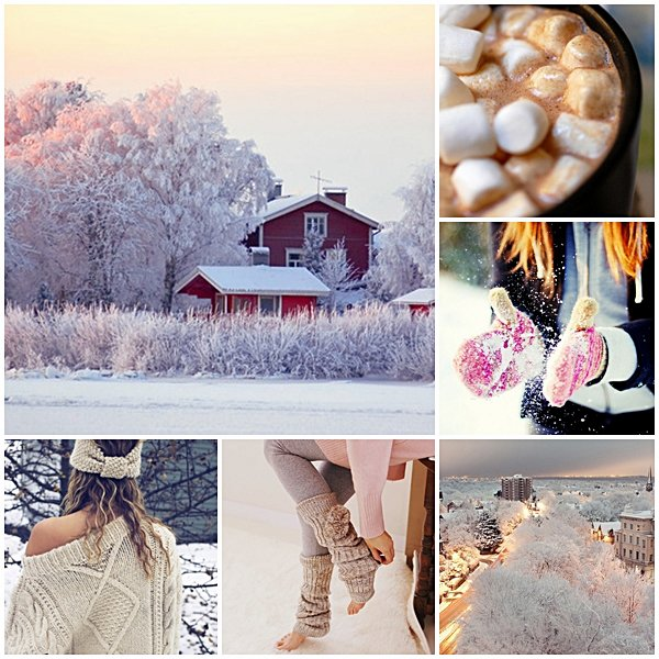 "♥  ""Winter is magic"" I love snow."