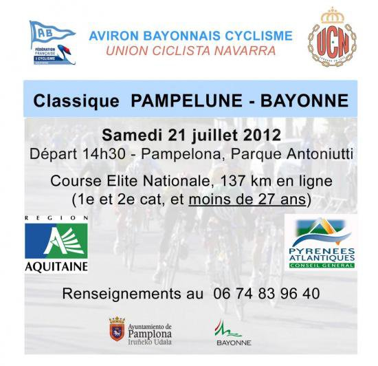 Pour ce week-end: Pampelune-Bayonne (137km)