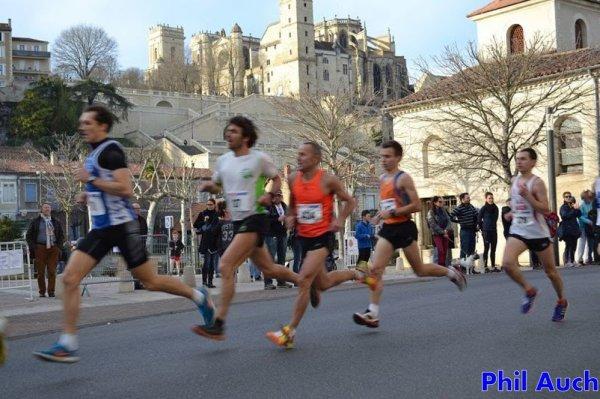 la corrida d'Auch 8,4km; le 27/12/2015