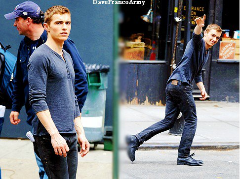 "Dave Franco sur le set de "" NOW YOU SEE ME"""