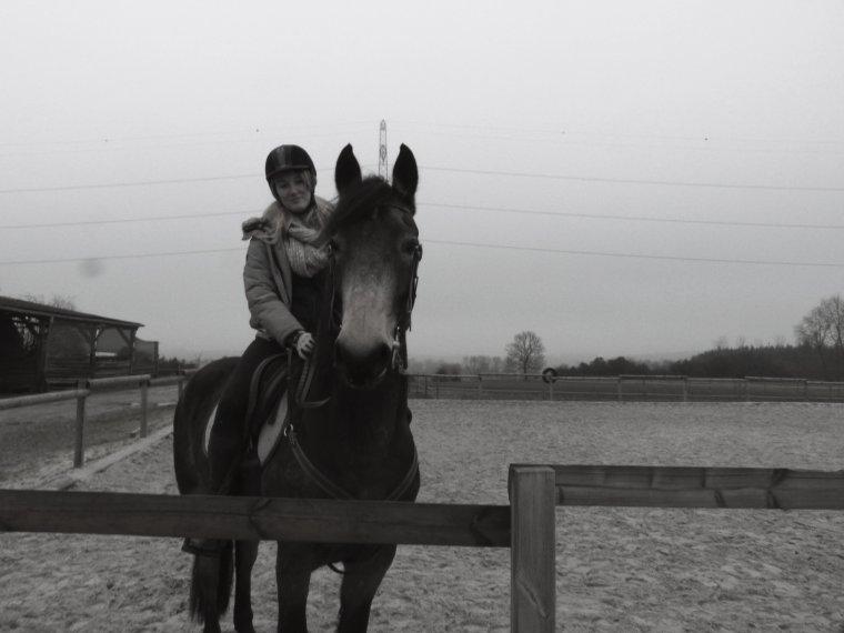 On ne monte pas un cheval avec la force mais avec la tête et le coeur.