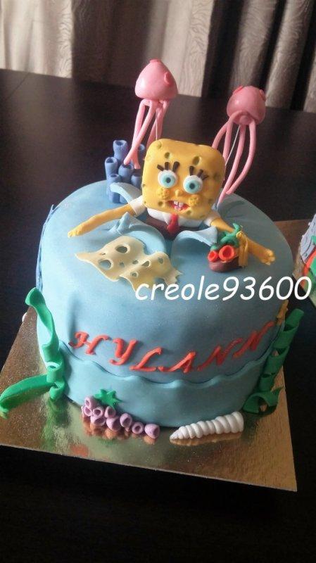 Gâteau bob l'éponge multicolore