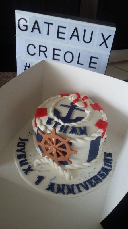 Gâteau theme marin