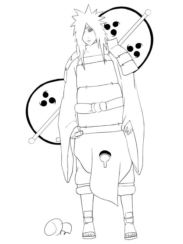 Madara uchiwa tobi le monde des mangas et de plein d 39 autre choses - Naruto shippuden coloriage ...
