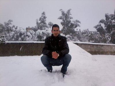 en plein neige!!!!!!!!!!
