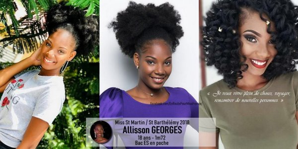 Allisson Georges, Miss Saint Martin Saint Barthelemy 2018 !