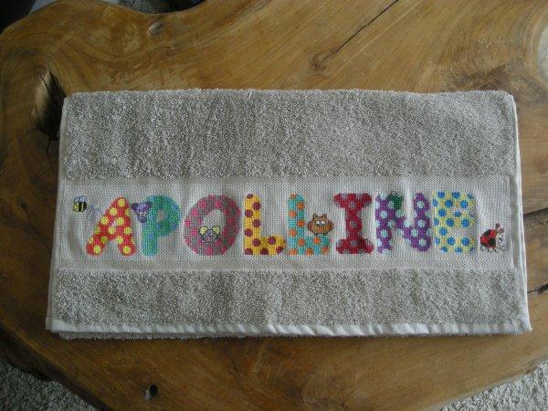 La serviette pour Apolline.
