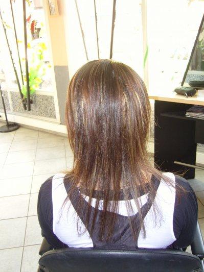 Coupe de cheveux degrade en pointe