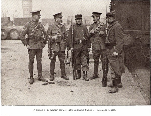 L'accueil des soldats anglais.