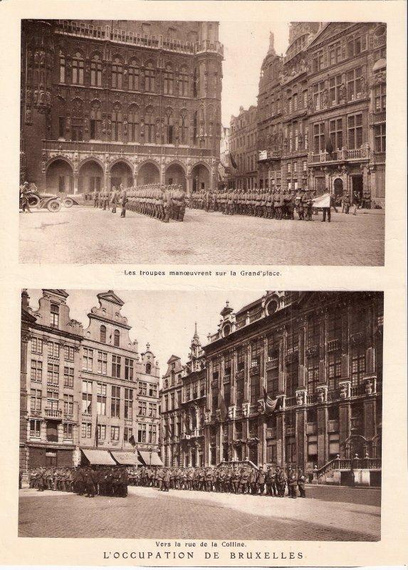 L'occupation de Bruxelles par les troupes allemandes.