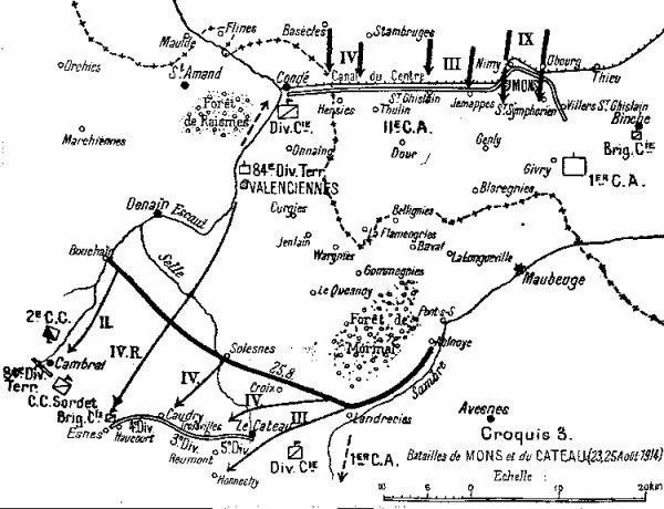 La bataille de Mons vue par le Général von Kluck.
