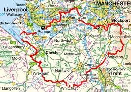 Le comté de Cheshire.