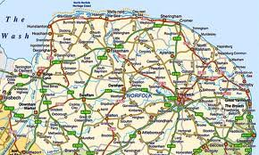 Le comté de Norfolk.