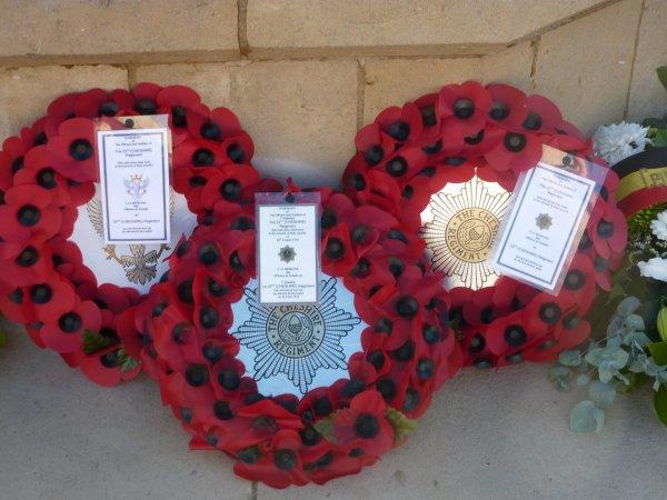 Commémoration de l'armistice à Audregnies en 2013