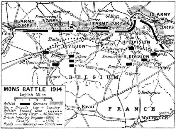 Positions avant la bataille de Mons