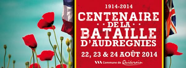 Commémorations du centenaire de la bataille d'Audregnies.