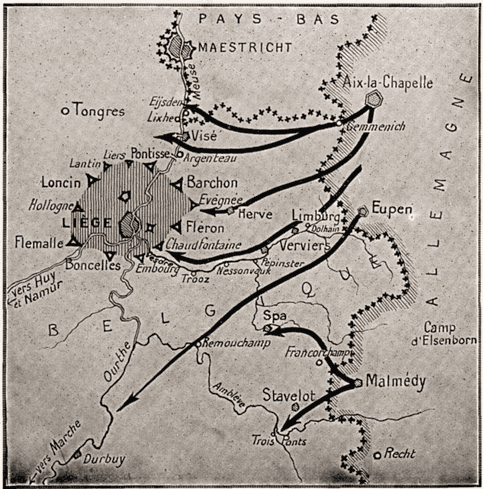 L'Allemagne viole la neutralité belge.