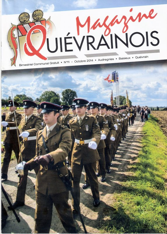 """Extraits du magazine """" Quiévrainois""""."""