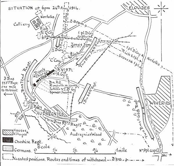 Résumé de la bataille d'Audregnies.