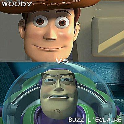 Woody vs Buzz l'éclaire