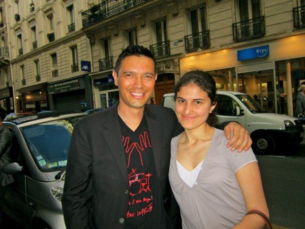 """Moi et Thierry Saint Jean (Créateur de L'Association """"2 Mains Rouges"""")"""