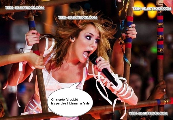 ".                                                                                                                                                                                                                   "" I can't be tamed "" repeat Miley , it's not hard  !                                                                                   ."