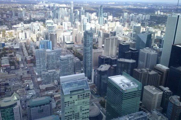 vue CN TOWER..vista da CN torre