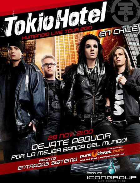 L'affiche officielle du concert au Chili (=