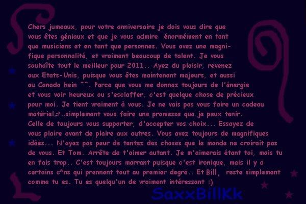 21 ans des Jumeaux Kaulitz - 1 Septembre 2010