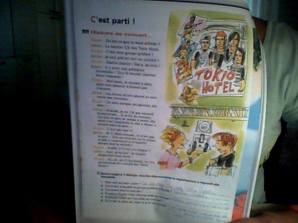 Tokio Hotel dans le livre : Le Français au Soleil.