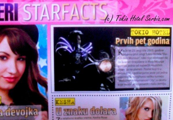 Bravo spécial poster (Serbie) - Tokio Hotel : les cinq premières années
